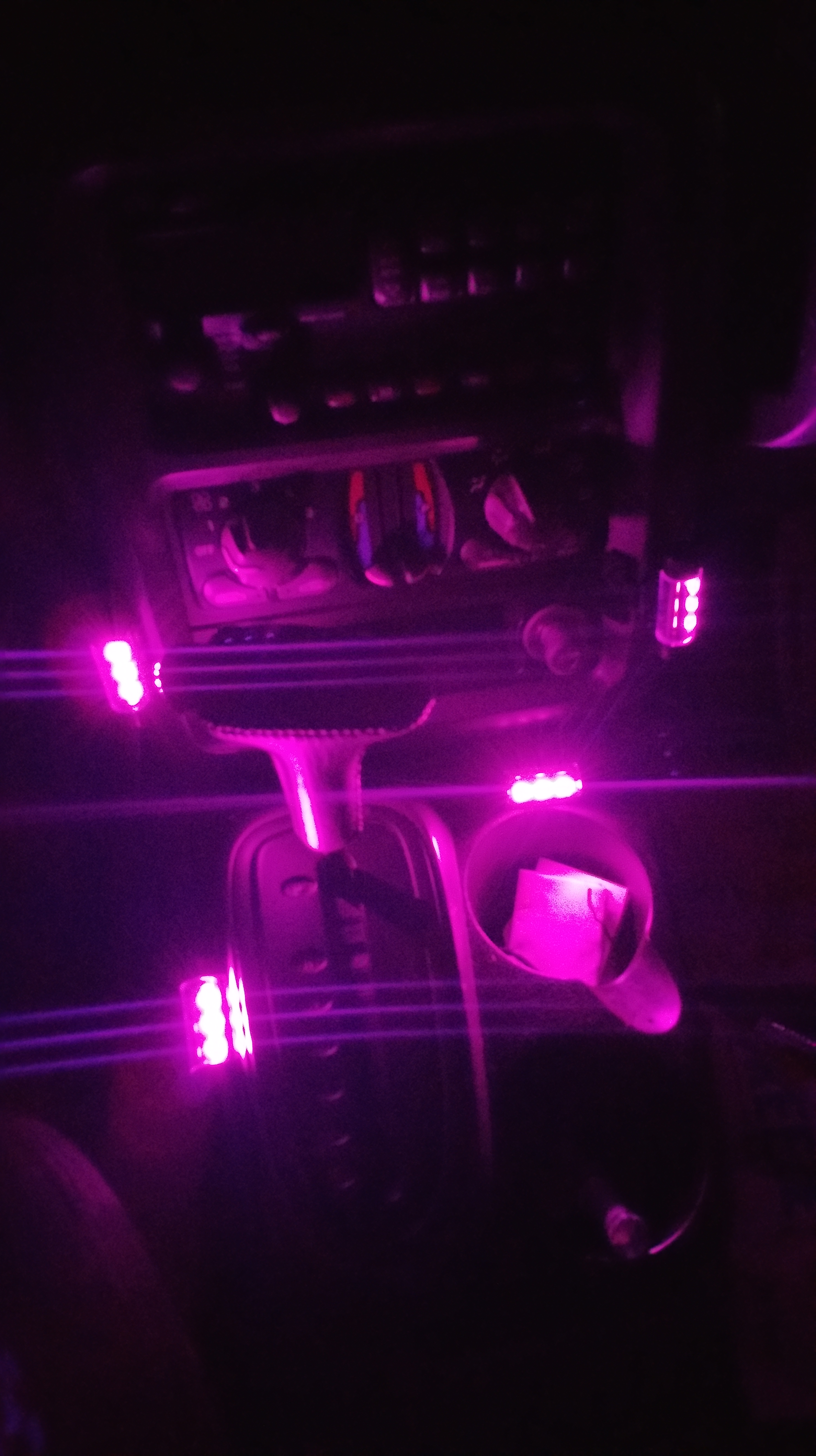 hamist 4 x 3led car charge 12v glow interior decorative 4in1 atmosphere light lamp pink money. Black Bedroom Furniture Sets. Home Design Ideas